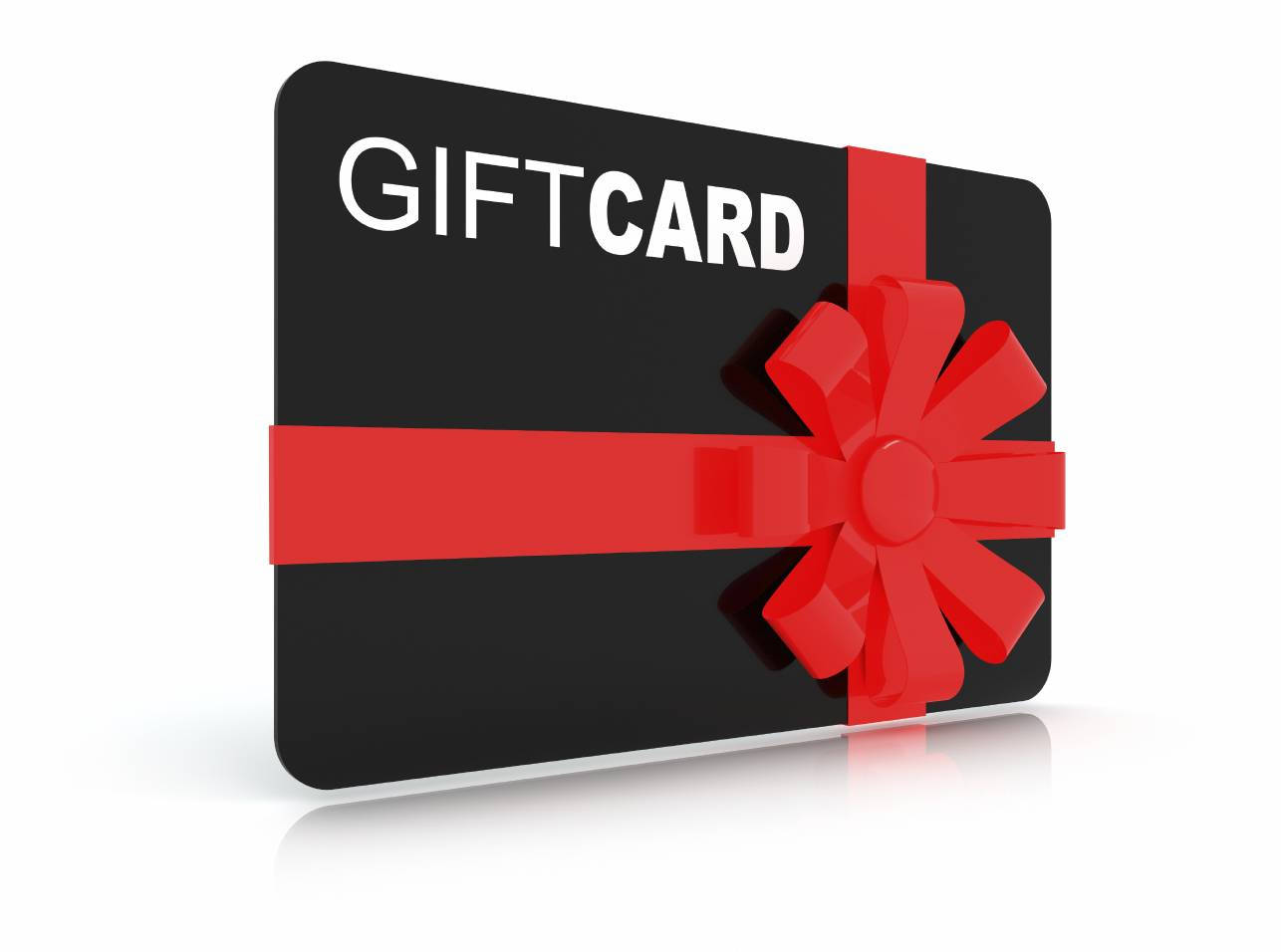 simple ribbon graduation gift card example
