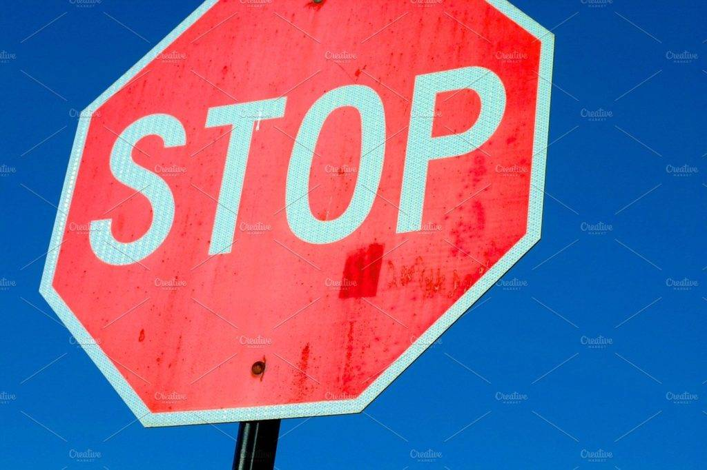 simple stop sign example