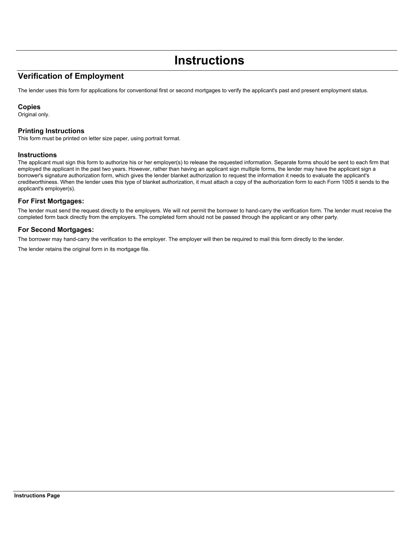 request for verification of employment letter