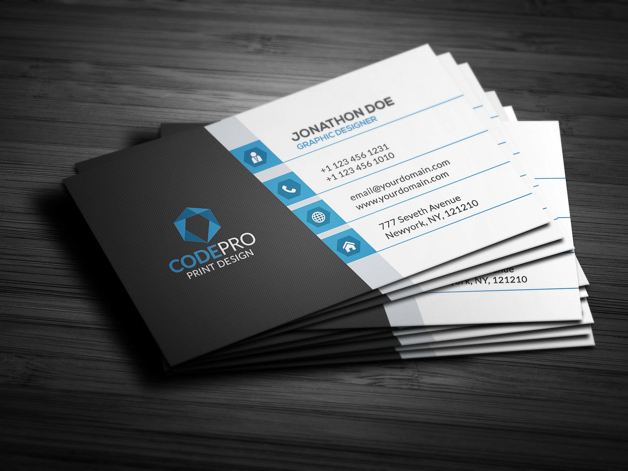slick artist business card example