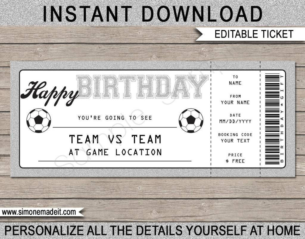 soccer ticket voucher example