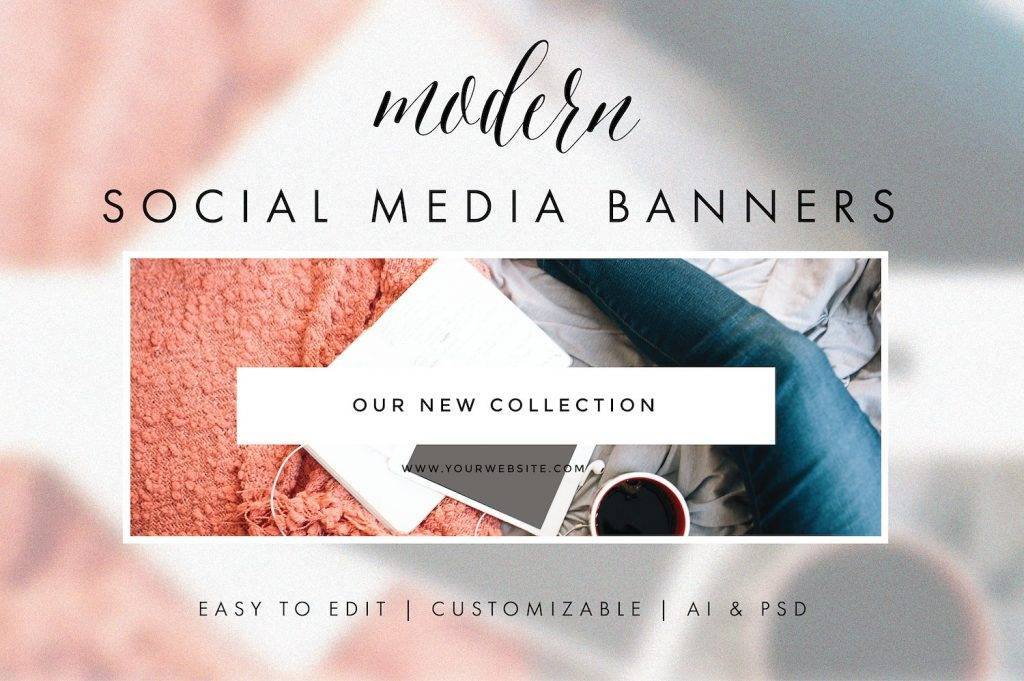 social media banners modern example