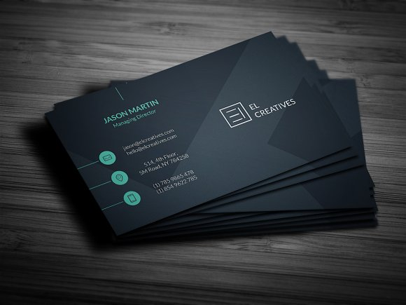 soft classy business card example