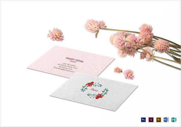 soft floral business card example