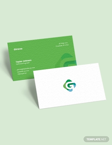 software engineer business card