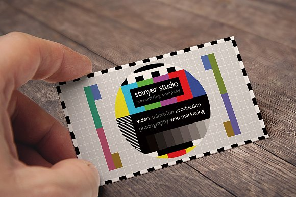 sophisticated studio business card example