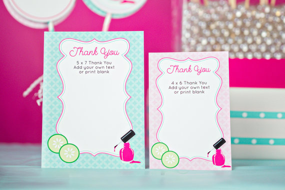 spa thank you card example