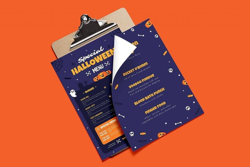 special halloween event menu example 1024x683