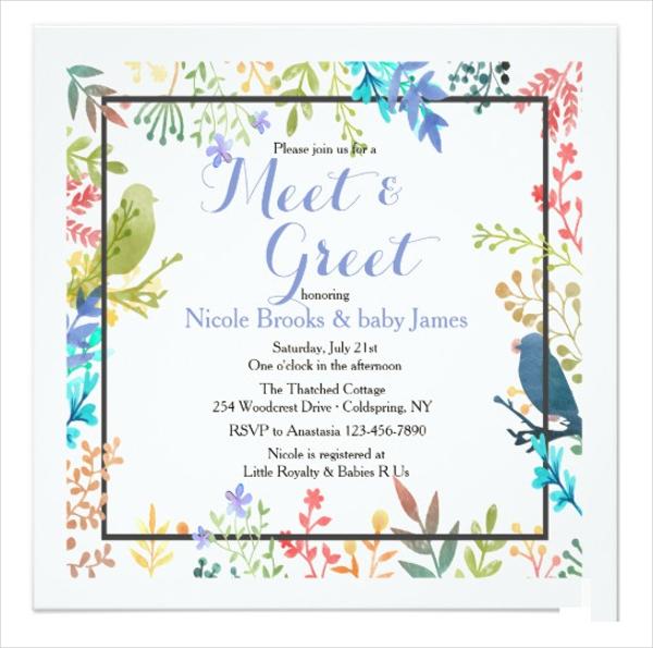 spring frame meeting greet invitation