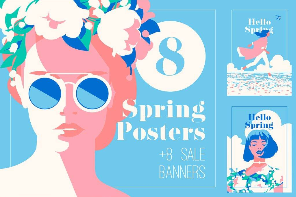 spring posters and sale banner example