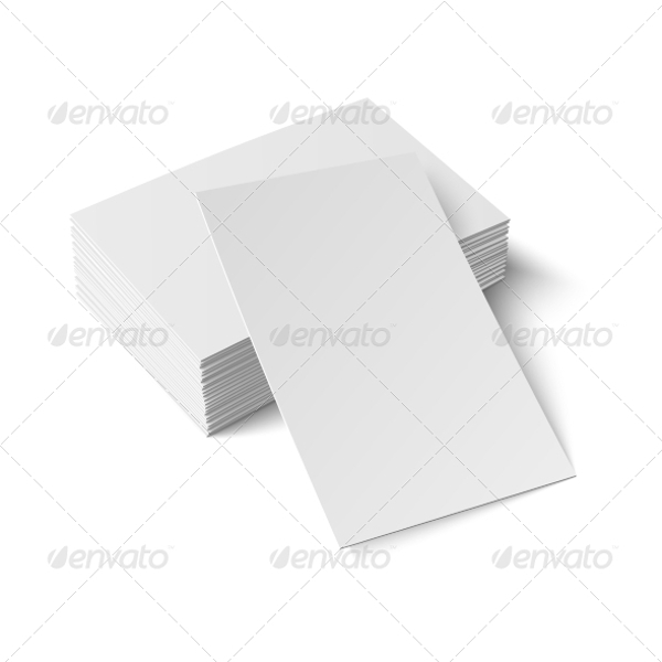 stack of blank business cards1