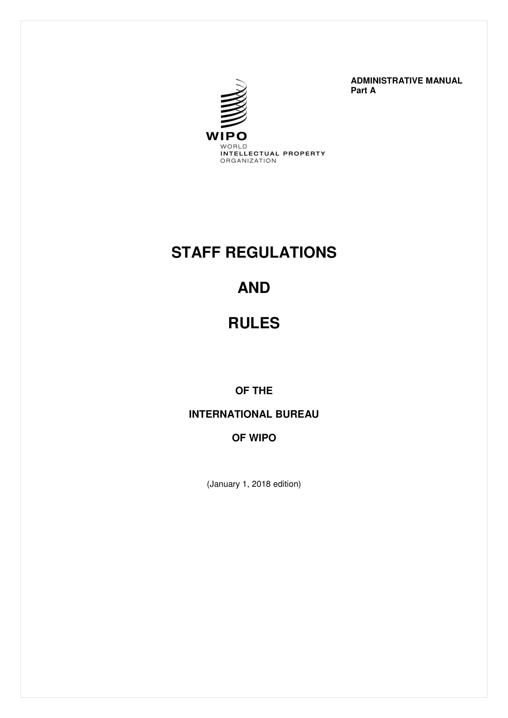 staff regulations and work rules example