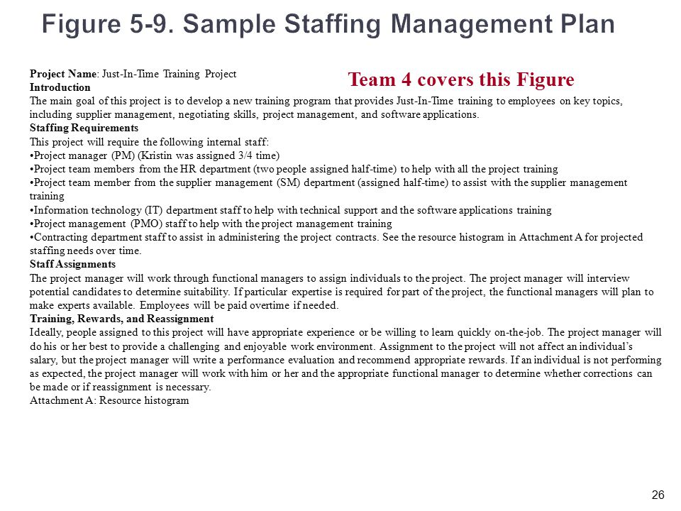 staffing management plan example