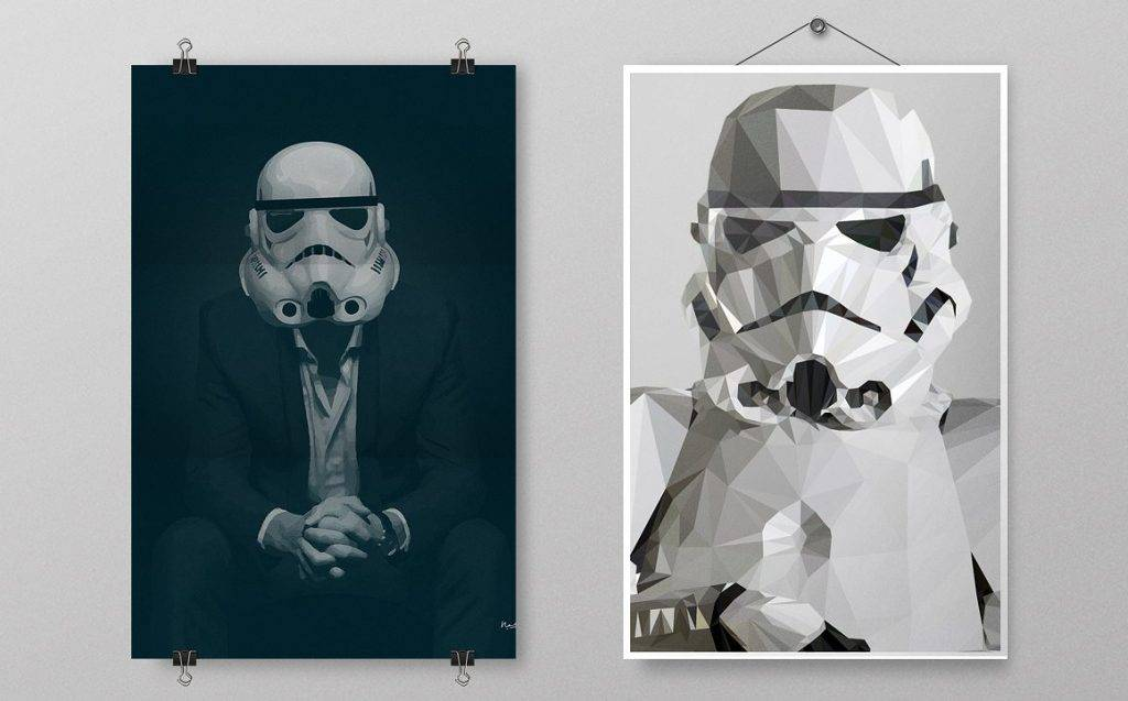 star wars hanging poster example