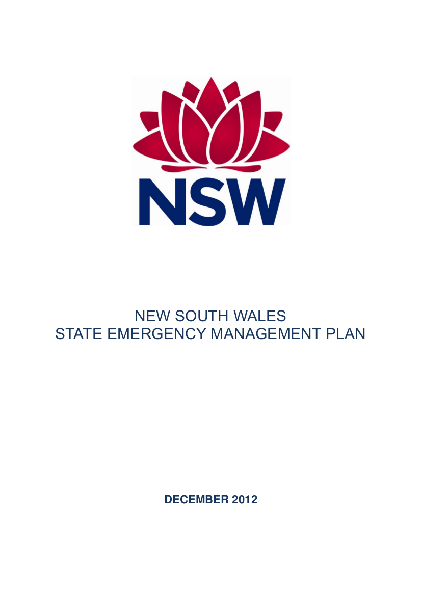 state emergency management plan example