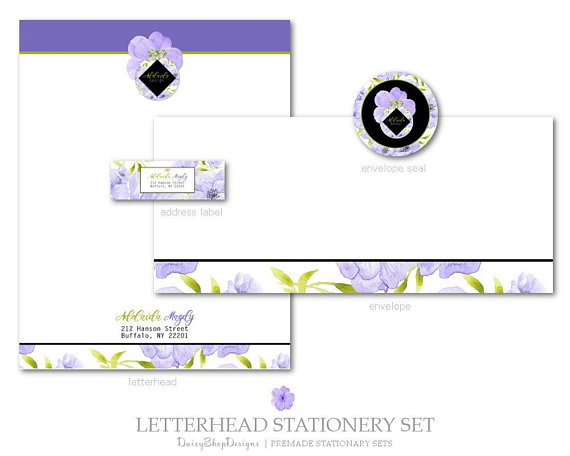 stationery set design example