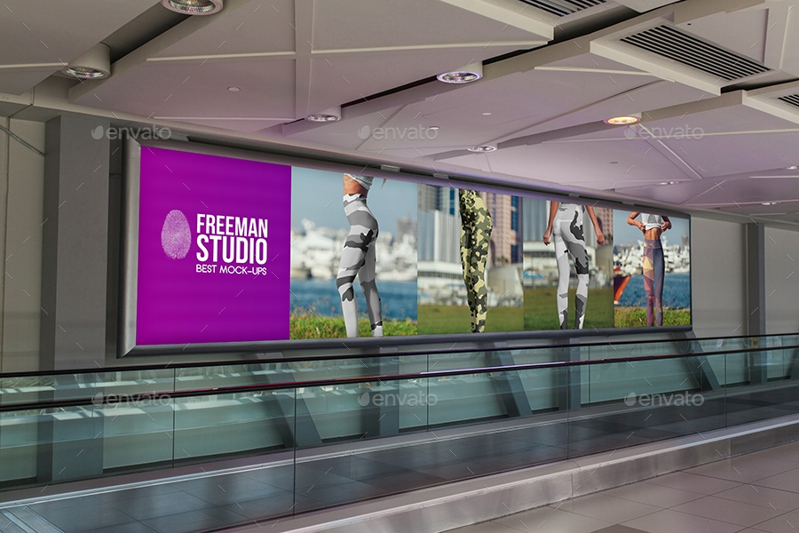 studio design billboard mock up example