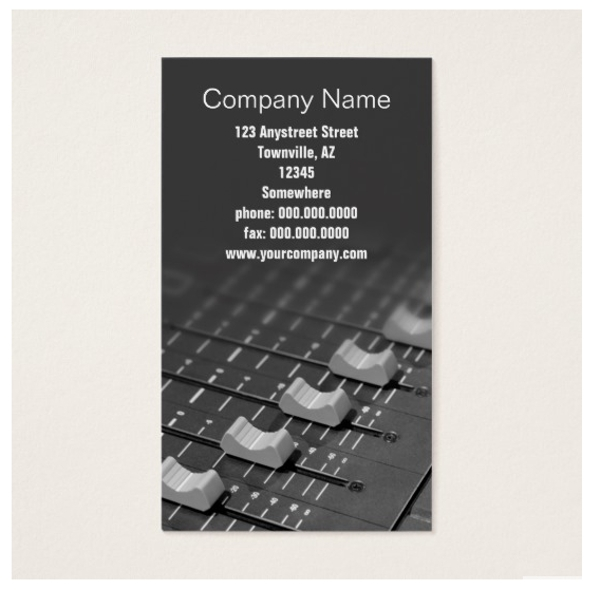 studio faders business card example