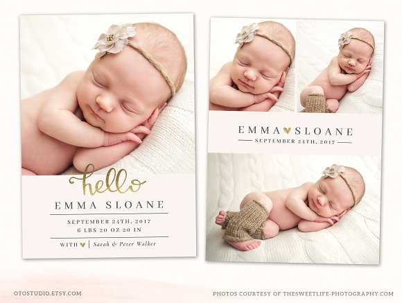 stylish baby annuncement example
