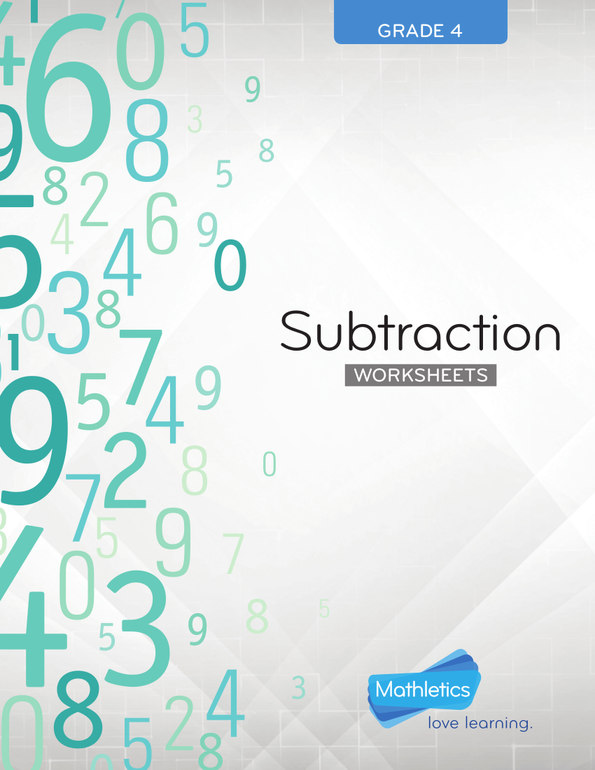 subtraction worksheets example