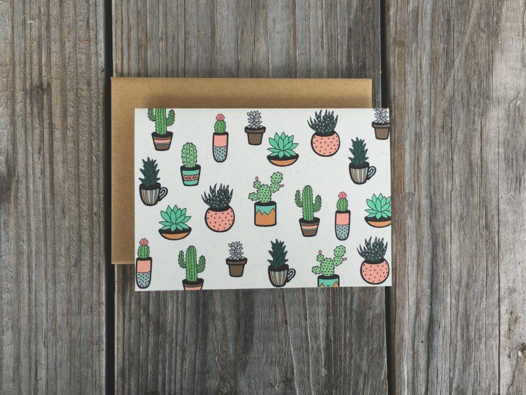 succulent thank you card set example