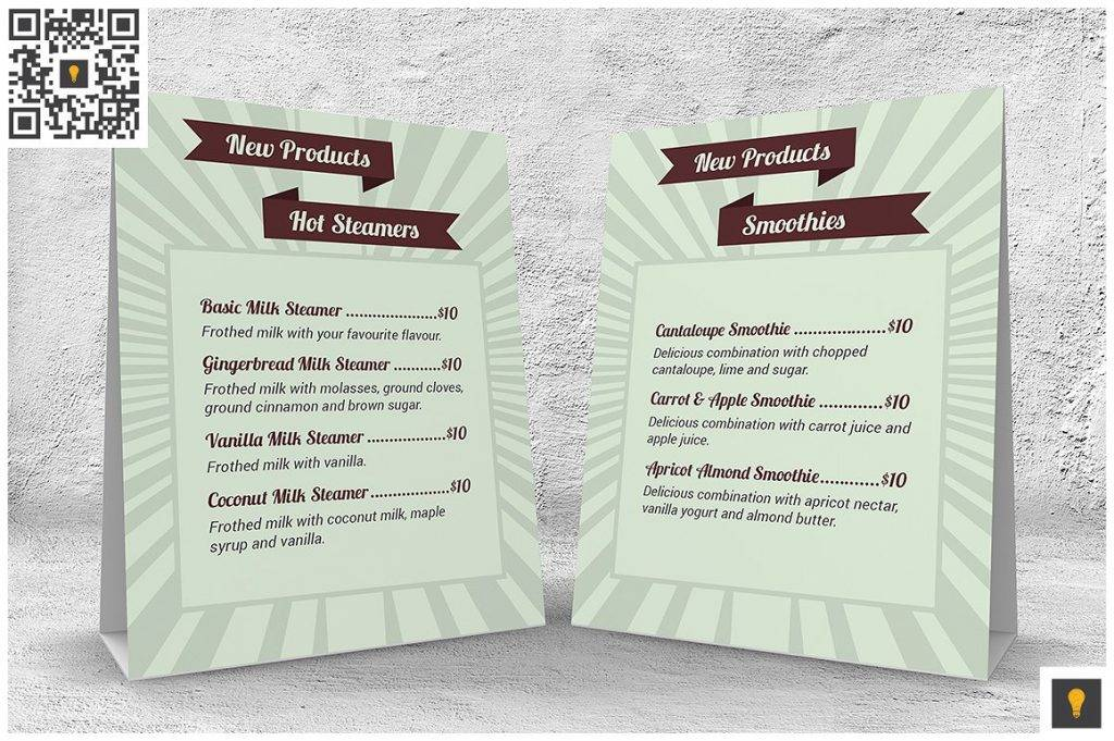 summer restaurant menu design example