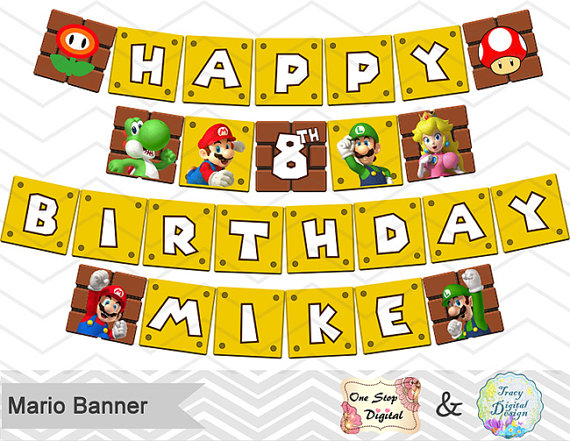 super mario party banner example