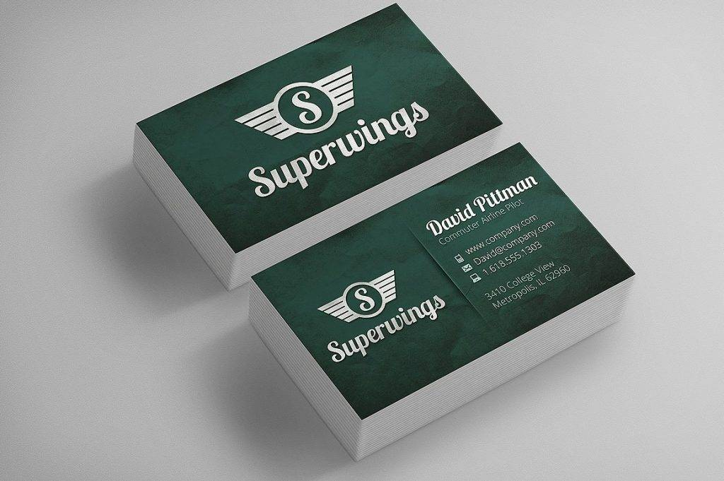 super wings business cards logo example