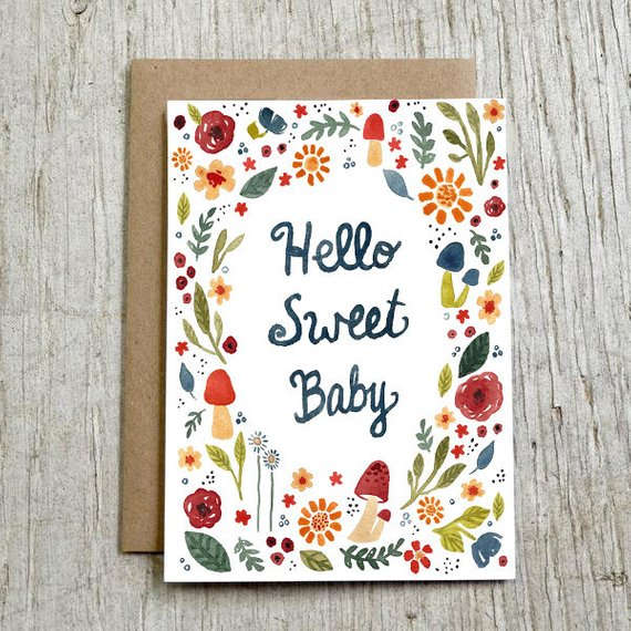 sweet baby greeting card example