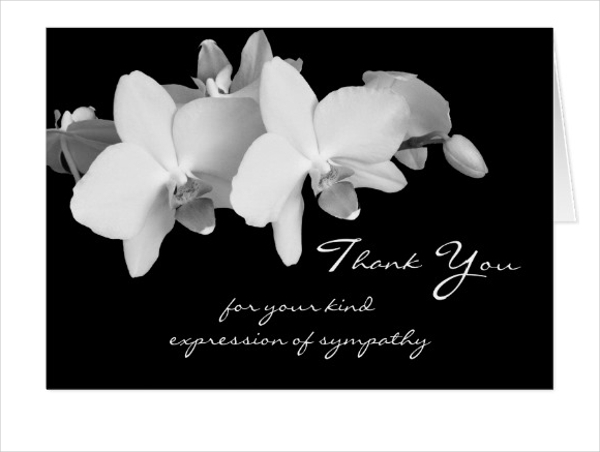 sympathy memorial thank you note card