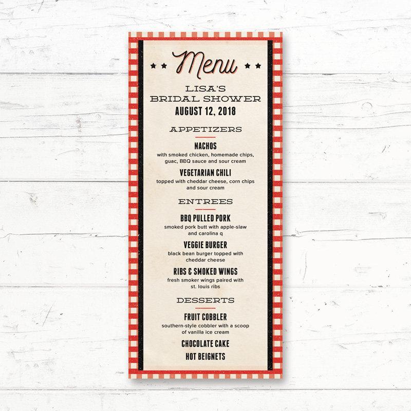 table mat multi purpose menu example