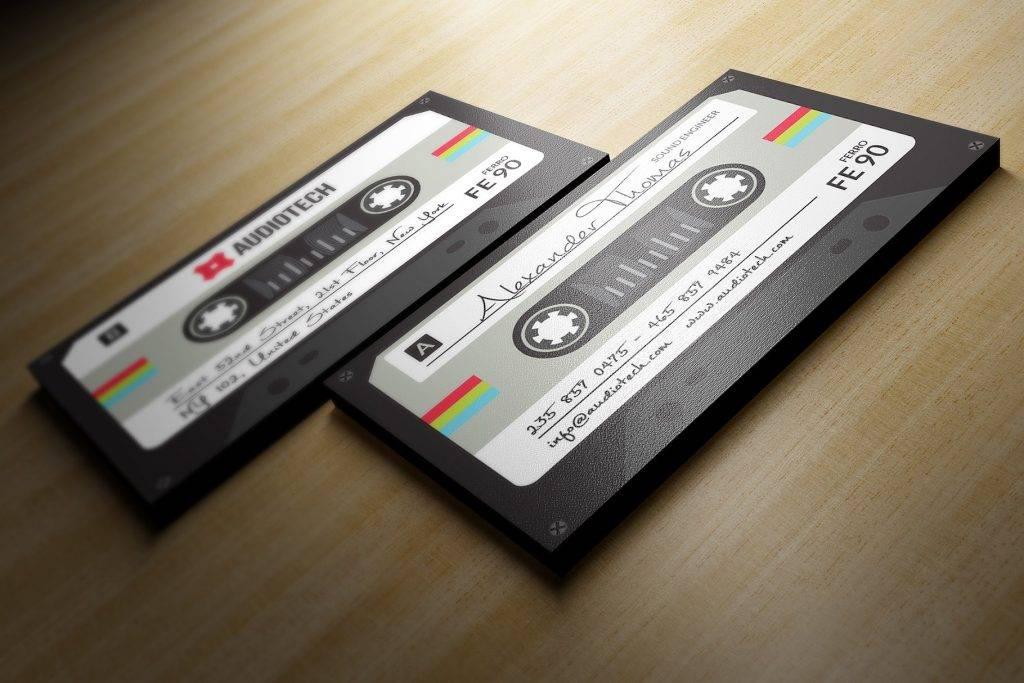 tape cassette dj business card