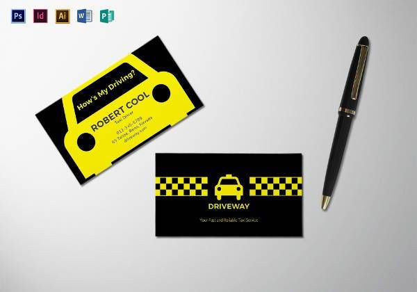 taxi business card template1