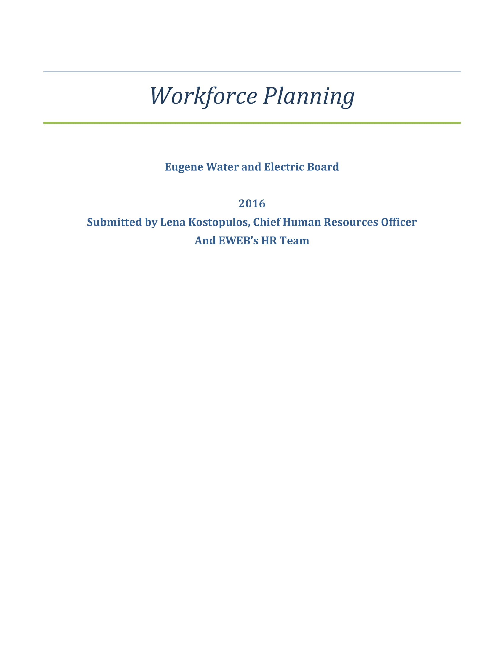 Template For Workforce Planning Example