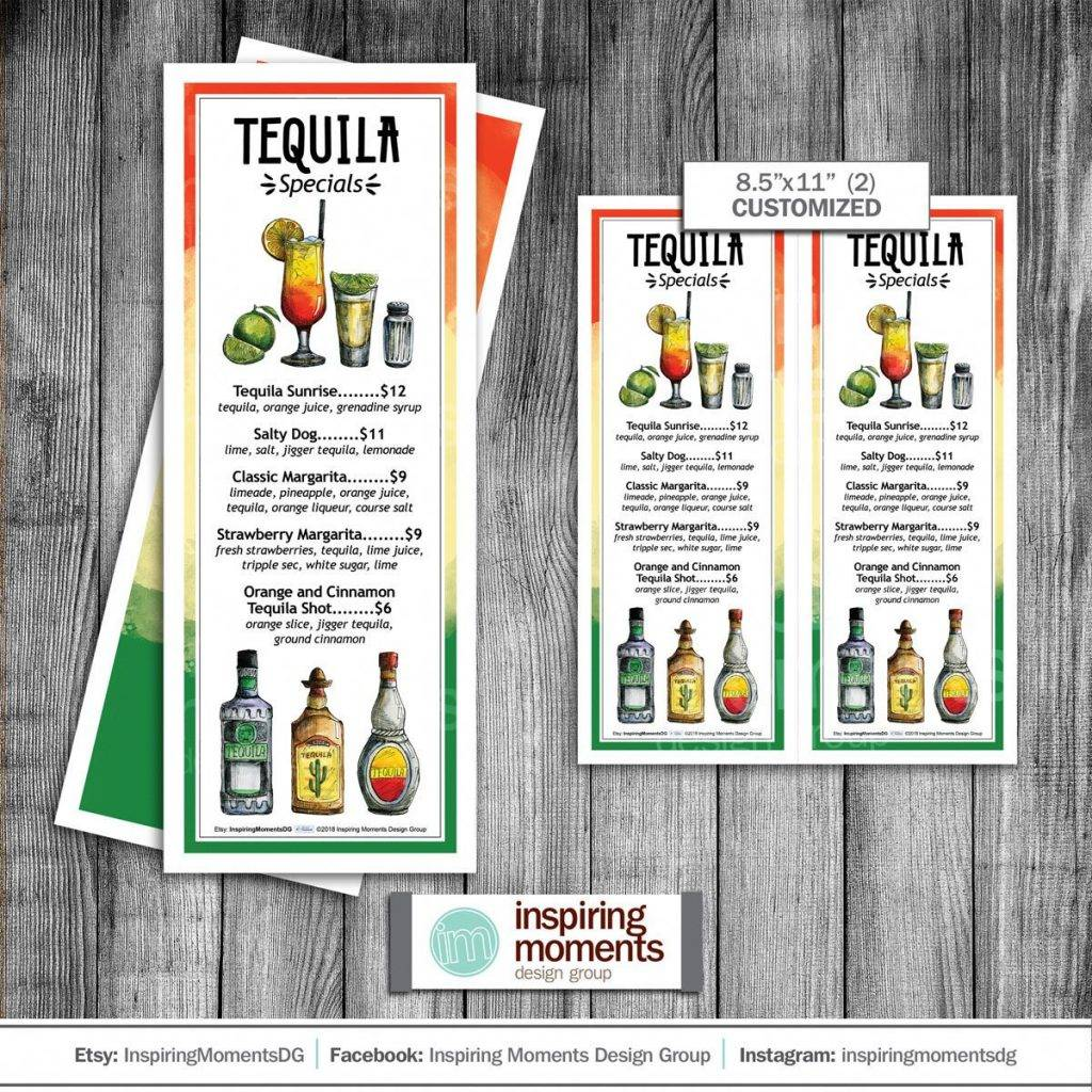 tequila special drinks indesign menu example 1024x1024