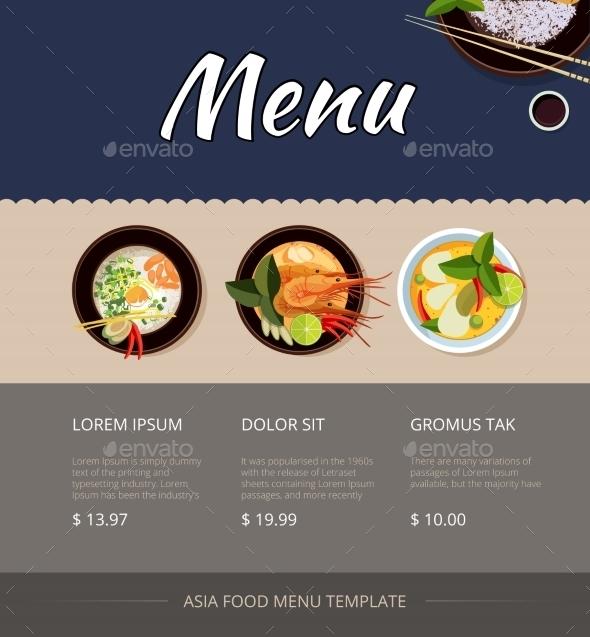 thai food menu example