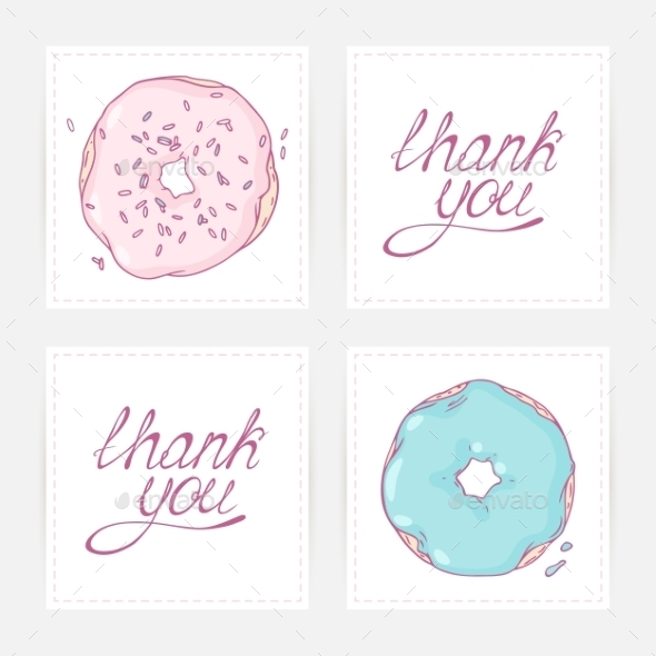 thank you cards with hand lettering example