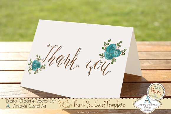 thank you peach rose card template example