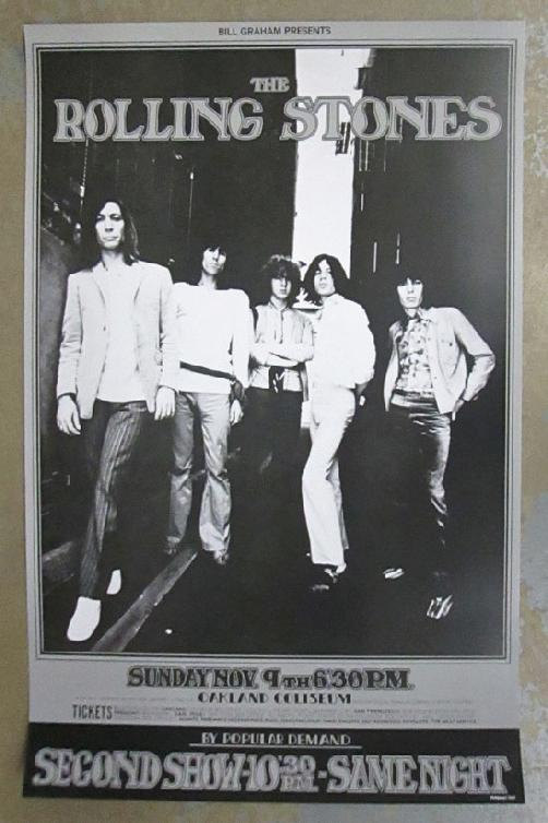 the rolling stones concert poster example