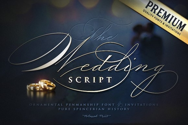 the wedding script invitation card