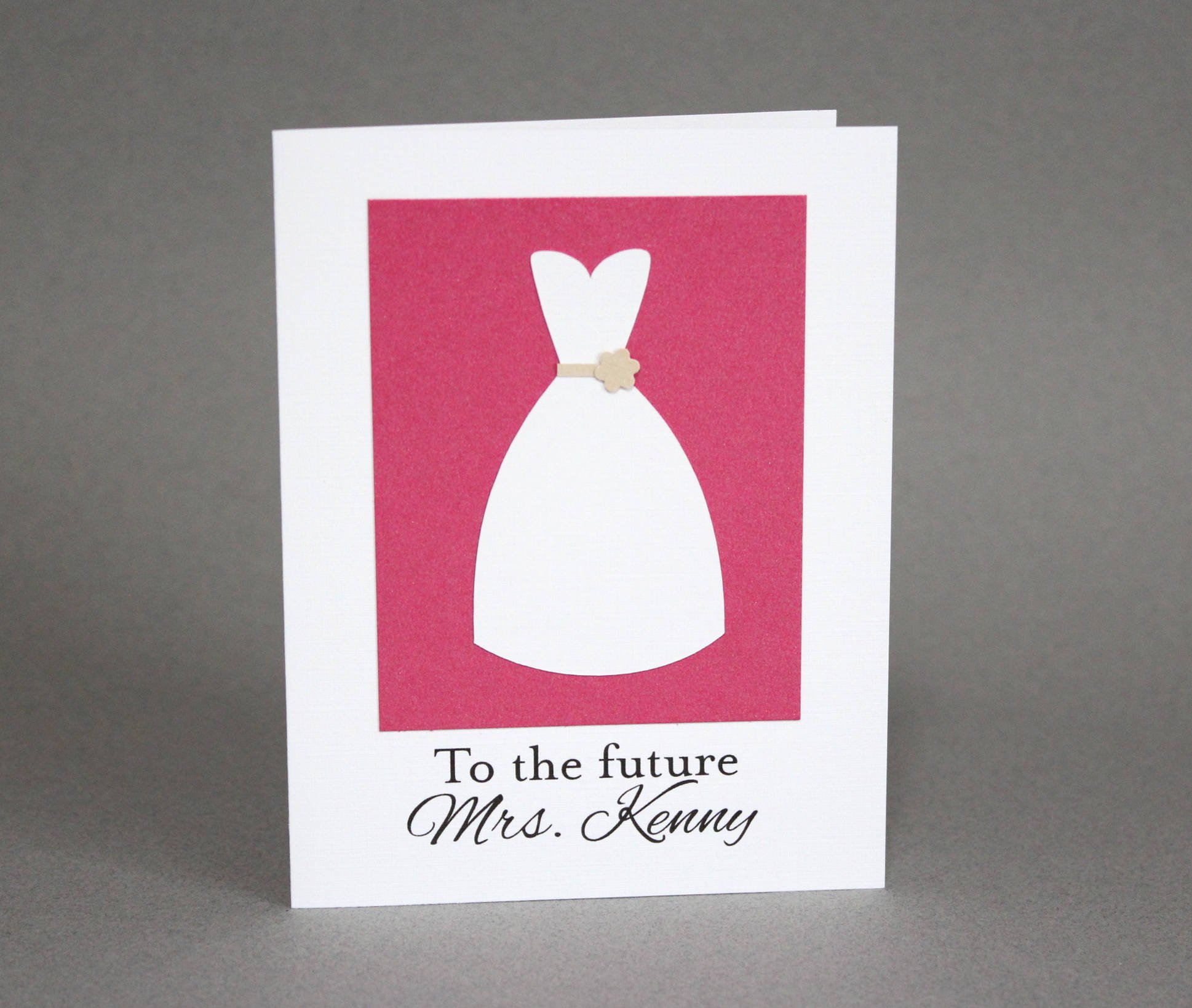 to the future bridal shower card example