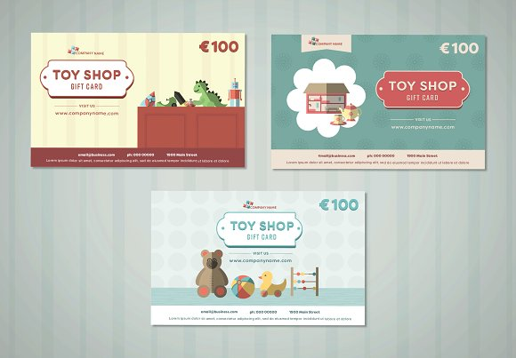 toy shop birthday gift card example