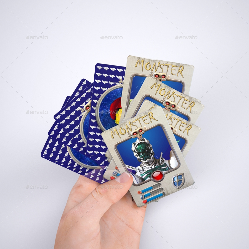 trading cards and wrappers mock up example