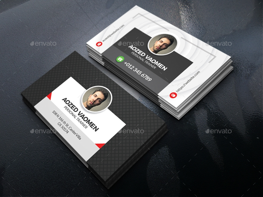 trainer personal business card example