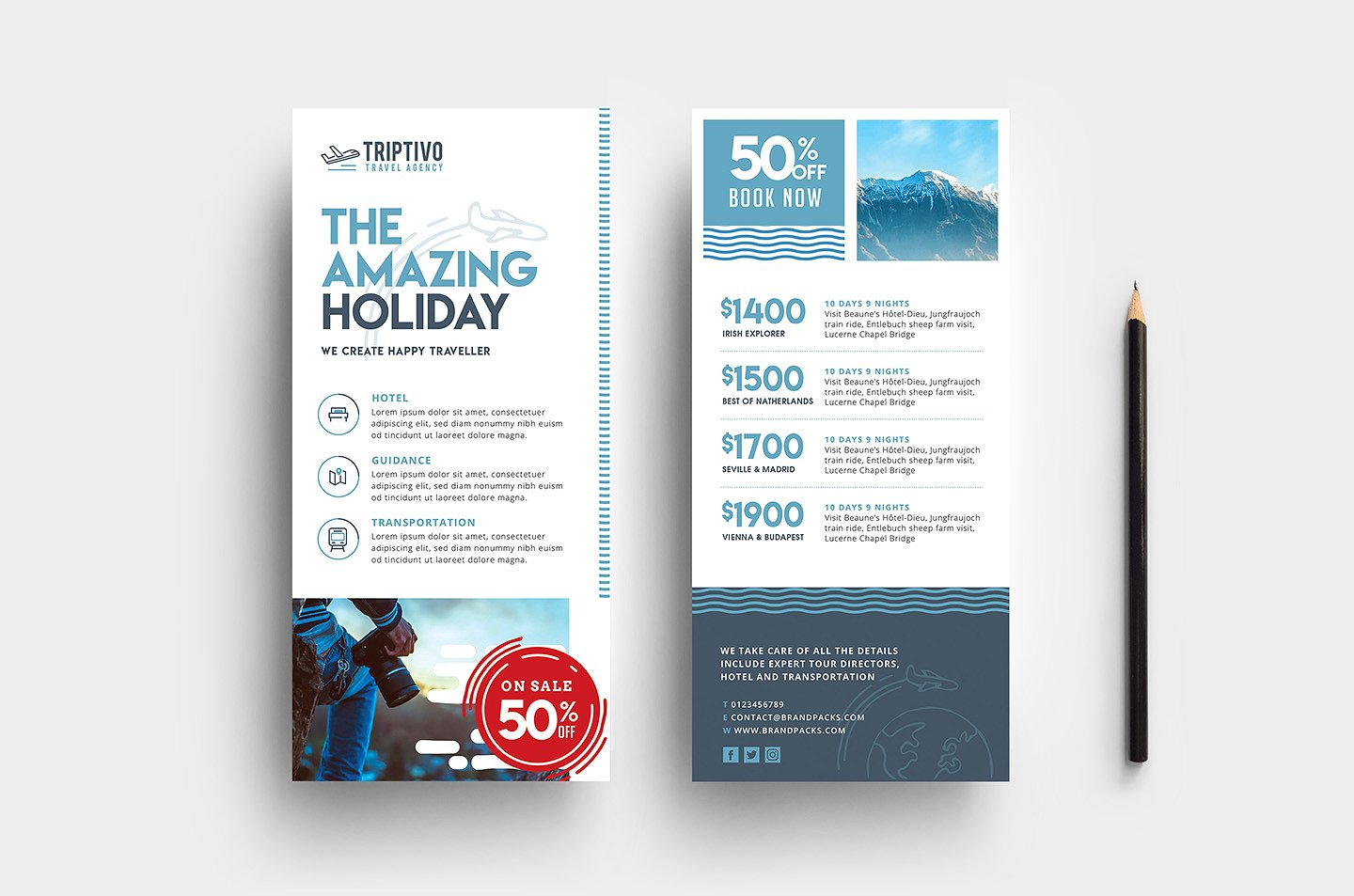 travel agency brochure example