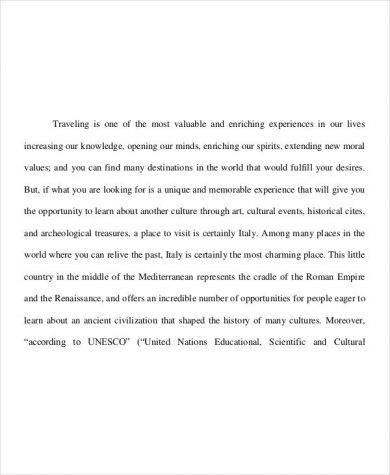 travel essay example