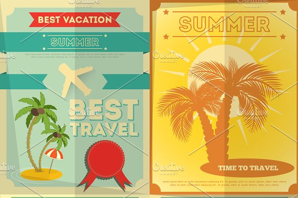 travel posters set example