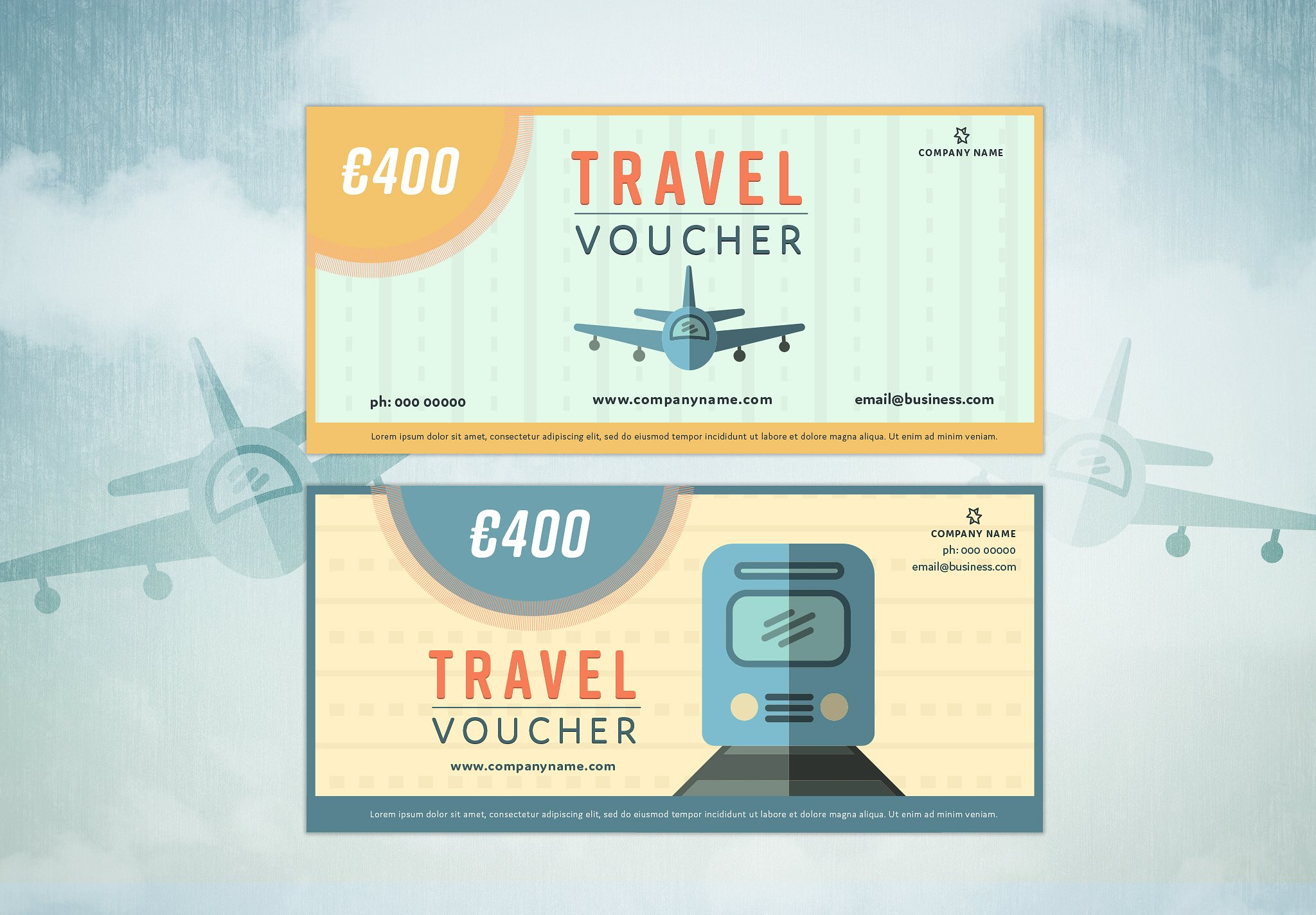 travel spring voucher example