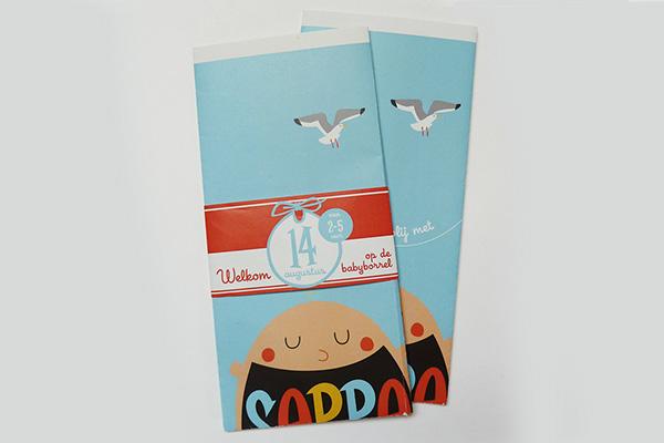 tri fold birth announcement design example