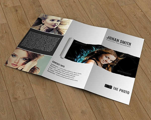 trifold brochure templates for photography example